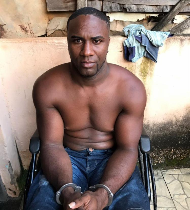 Wildson Silva de Jesus, conhecido como Chom Chom, foi preso no bairro de Luís Anselmo - Foto: Divulgação | SSP