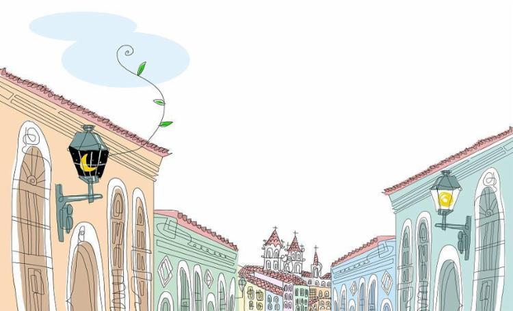 A paisagem do centro histórico denuncia a precária estrutura dos casarões coloniais - Foto: Bruno Aziz