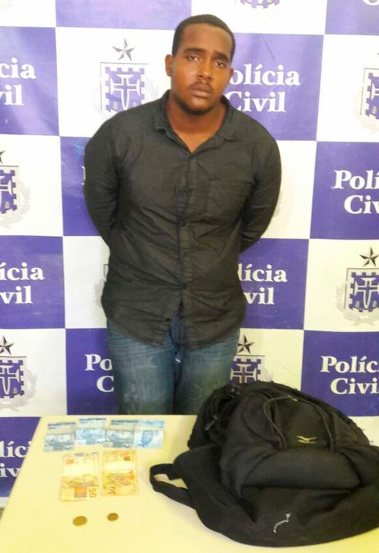 Thiago foi reconhecido pelas vítimas - Foto: Divulgação   Polícia Civil