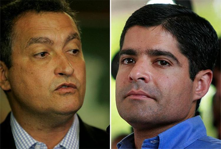 Em campos políticos opostos, Rui Costa e ACM Neto são cotados para disputar o governo - Foto: Joá Souza | Ag. A TARDE