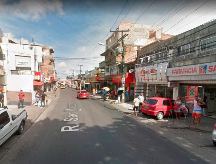 Acidente aconteceu na rua Direta do São Marcos - Foto: Reprodução | Google Maps