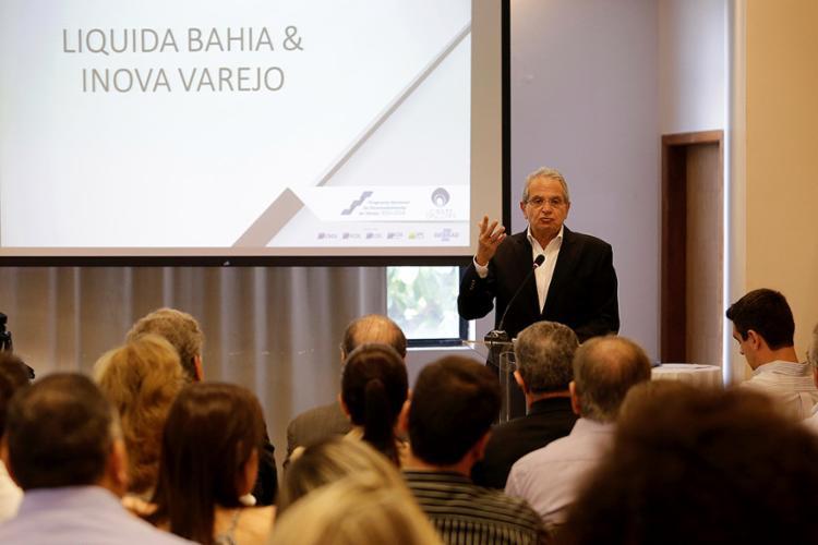 Presidente da FCDL Bahia, Antoine Tawil participou do lançamento oficial da 6ª edição do Liquida Bahia - Foto: Adilton Venegeroles l Ag. A TARDE