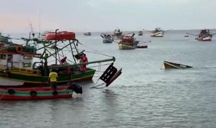 Ventos fortes provocaram naufrágio no sul da Bahia - Foto: Reprodução | TV Bahia