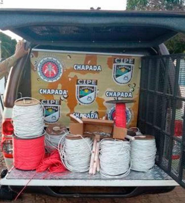 Materiais foram encaminhados para delegacia de Ibitiara - Foto: Divulgação   Polícia Militar