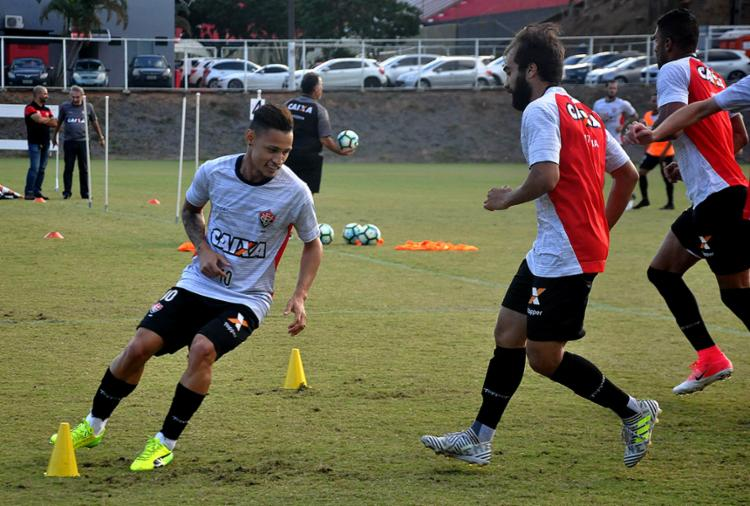 Equipe treinou a parte física nesta quarta-feira, 5, na Toca do Leão - Foto: Maurícia da Matta l EC Vitória