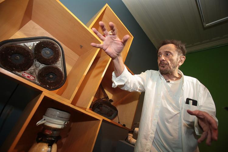 'Bardo de Irará' visita exposição na Caixa Cultural - Foto: Joá Souza l Ag. A TARDE