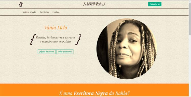 Tela inicial do site - Foto: Reprodução
