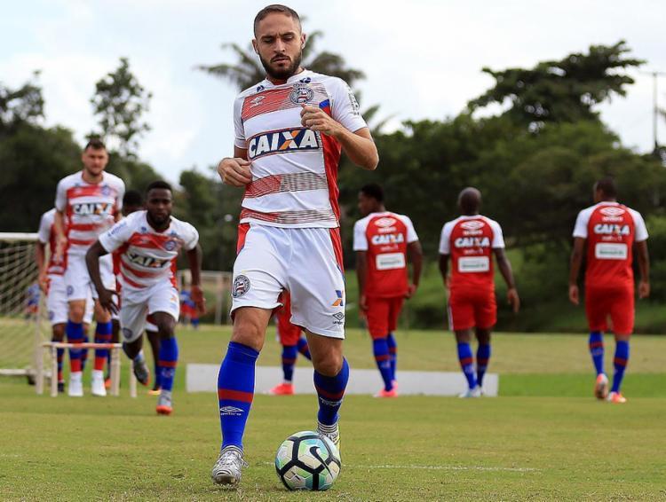 Régis e companhia tentarão superar a superioridade do Fluminense no histórico contra o Bahia - Foto: Felipe Oliveira l EC Bahia