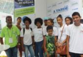 Crianças e adolescentes do projeto Caia na Rede visitam a CPBA | Foto: