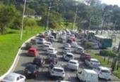 Manifestação deixa trânsito complicado no Itaigara | Foto: