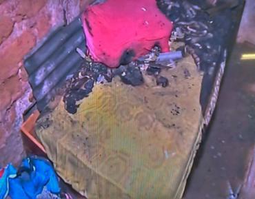 O cômodo do imóvel teve perda total - Foto: Reprodução | TV Record