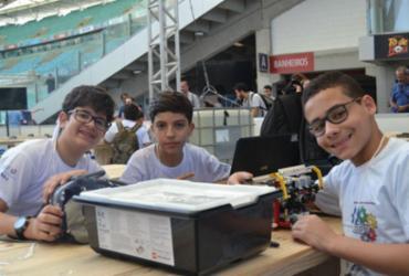 Alunos apresentam projeto na Olimpíada de Robótica na Campus Party |