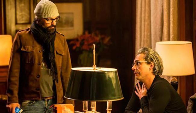 O diretor Mauro Lima e o ator Alexandre Nero durante as filmagens - Foto: Divulgação