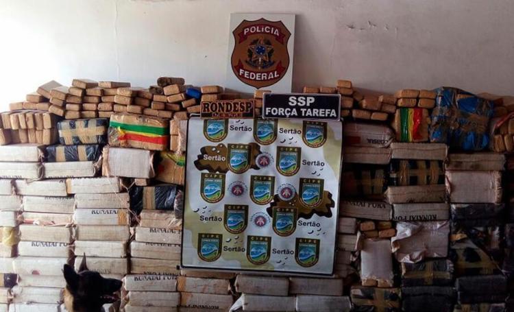 Segundo a polícia, a droga seria dividida e distribuída em Salvador - Foto: Divulgação | SSP-BA