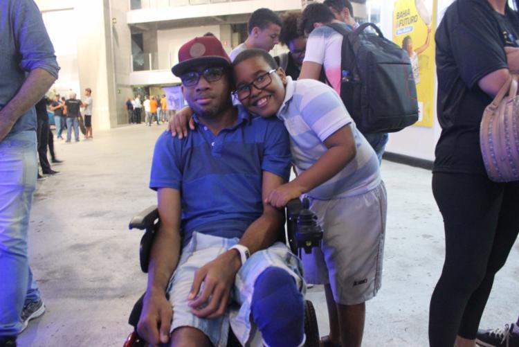 Lucas e seu irmão curtem a Campus Party pela primeira vez - Foto: Igor Andrade