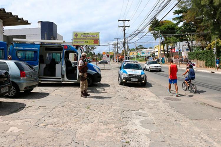 O policiamento na localidade foi reforçado - Foto: Alberto Maraux | Divulgação | SSP