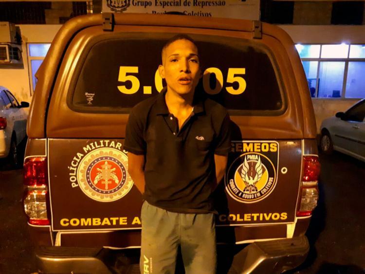 Fábio Carvalho de Santana, 19 anos, foi preso na região da