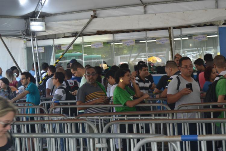 Filas para credenciamento no primeiro dia da CPBA incomodaram - Foto: Alezinha Roldan | A Tarde SP