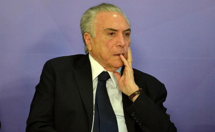 Michel Temer foi internado na última quarta com obstrução urológica - Foto: Renato Costa l Estadão Conteúdo