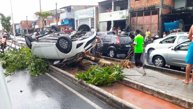 O acidente aconteceu na avenida Afrânio Peixoto - Foto: Cidadão Repórter | Via WhatsAap
