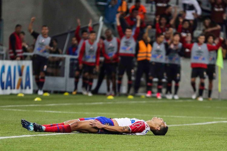 Jogadores do Atlético comemoram goleada contra o Bahia - Foto: Joka Madruga | Futura Press | Estadão Conteúdo