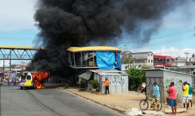 Ninguém ficou ferido no incêndio - Foto: Cidadão Repórter | Via WhatsApp