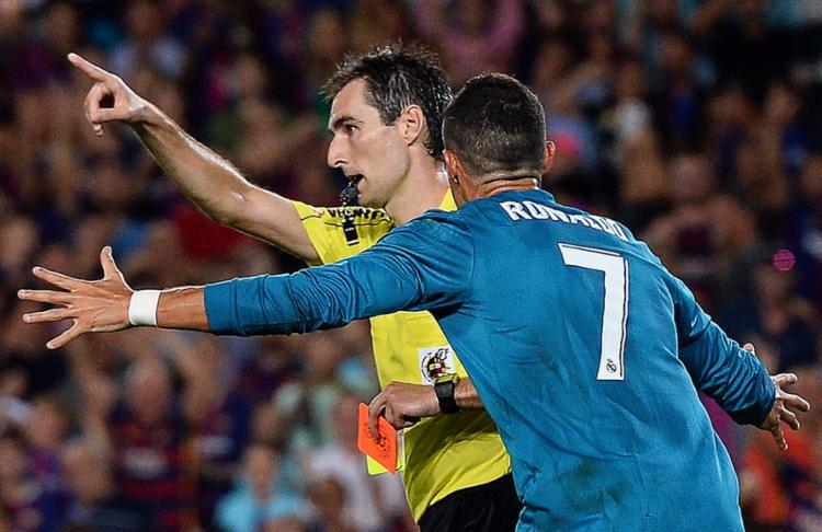 Cristiano foi enquadrado no artigo 96 do regulamento de competições da RFEF - Foto: Josep Lago | AFP