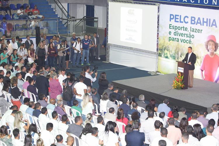 Lançamento de projeto ocorreu no Centro Pan-americano de Judô (Lauro de Freitas) - Foto: Luciano da Matta l Ag. A TARDE
