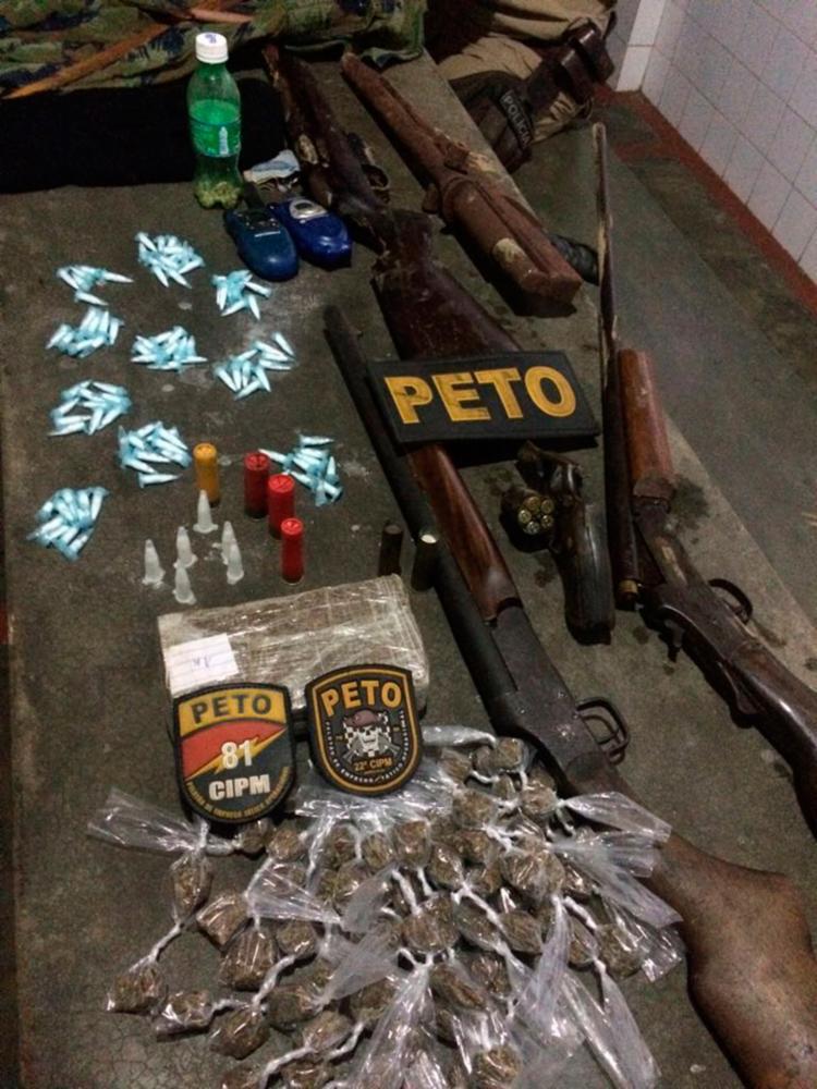 Material foi encontrado com os suspeitos, que morreram em confronto com a polícia - Foto: Divulgação | SSP-BA