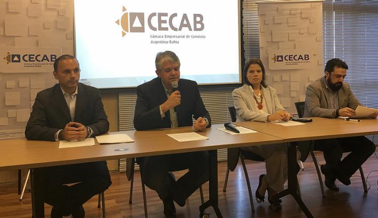 Paulo Cintra apresentou plano de atuação para ampliar comércio com a Argentina - Foto: Fecomércio-BA l Divulgação