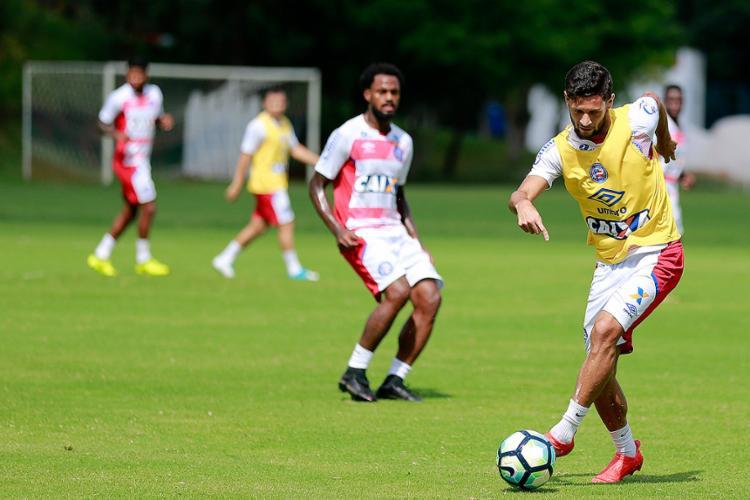 Juninho Capixaba terá contra o Vasco sua primeira chance como titular na Série A - Foto: Felipe Oliveira l EC Bahia