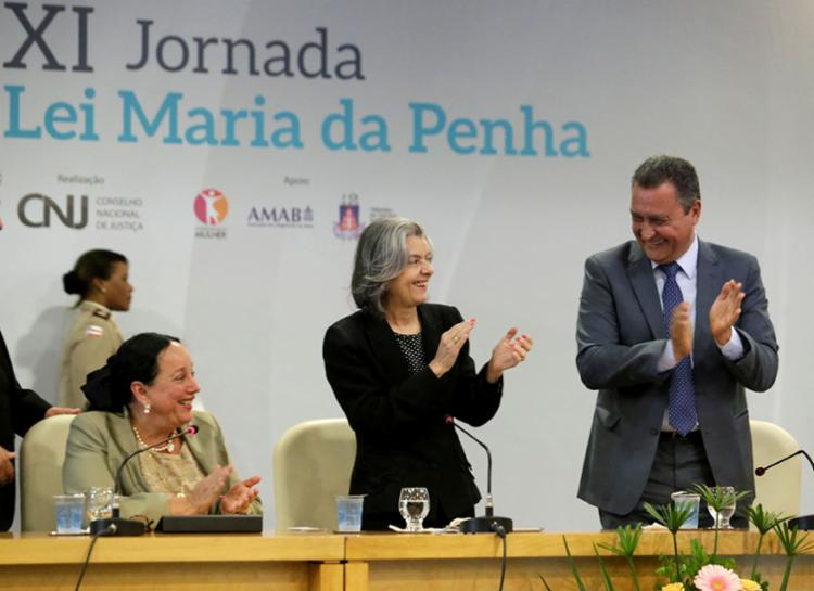 A presidente do STF, Cármen Lucia, e o governador Rui Costa também estavam presentes no evento - Foto: Xando Pereira | Ag. A TARDE | 18.08.2017