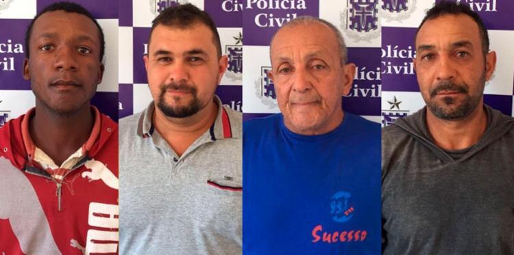 Os quatro pagaram fiança e foram liberados - Foto: Divulgação | Polícia Civil