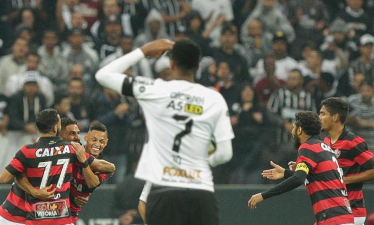 O Rubro-Negro nunca havia vencido o clube paulista fora de casa no Brasileirão - Foto: Daniel Teixeira | Estadão Conteúdo
