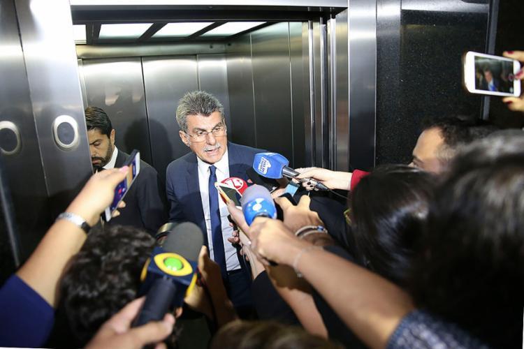 Romero Jucá diz que está muito tranquilo contra qualquer denúncia e garante que não tem nenhum temor - Foto: Valter Campanato l Agência Brasil