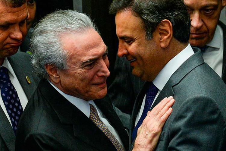 Nota do vereador Mario Covas Neto, do diretório municipal do PSDB, condenou encontro de Temer com Aécio - Foto: Andressa Anholete| AFP | 31.8.2016