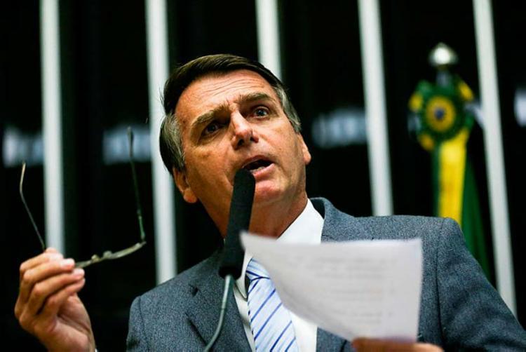 Desde 2014, Bolsonaro liderou o ranking mensal de interações em 18 meses - Foto: Marcelo Camargo | Agência Brasil | 02.02.2017
