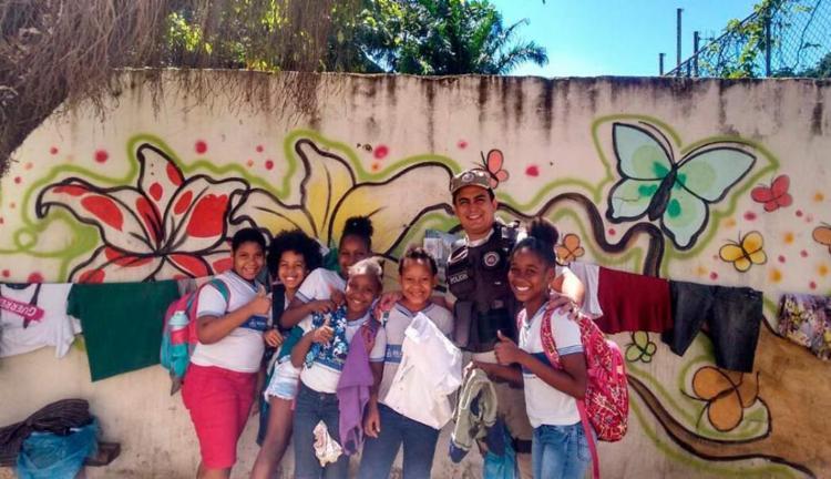 Alunos da Escola Municipal José Calazans participaram da ação - Foto: Divulgação | SSP-BA