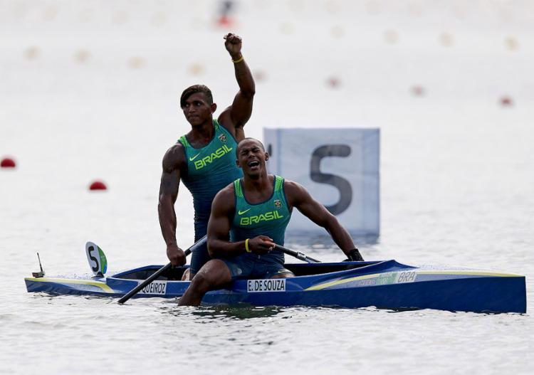 Prata na Rio-2016, Isaquias e Erlon tentam o bi mundial na C2-1000m - Foto: Marcos Brindicci l Reuters l 20.8.2016