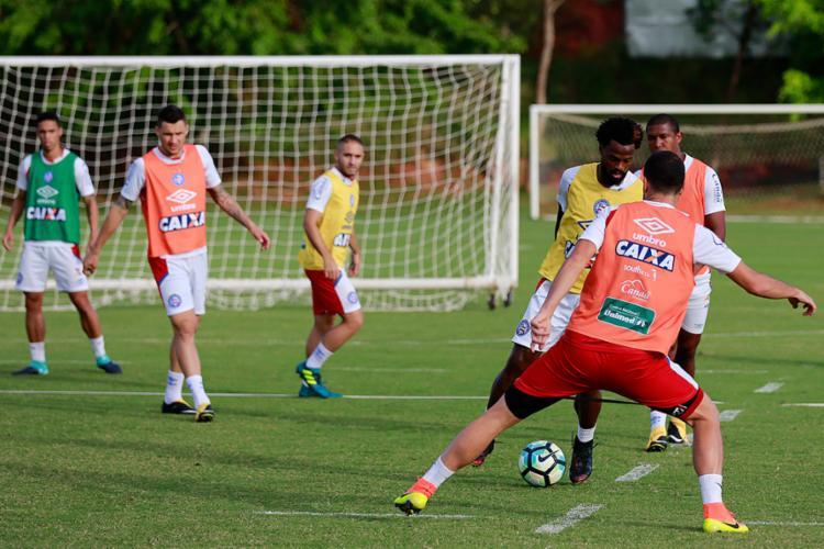 Preto repetiu a equipe que venceu o Vasco no último domingo - Foto: Felipe Oliveira | EC Bahia