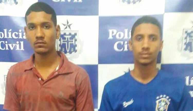 A dupla foi autuada em flagrante por roubo qualificado - Foto: Divulgação | Polícia Civil