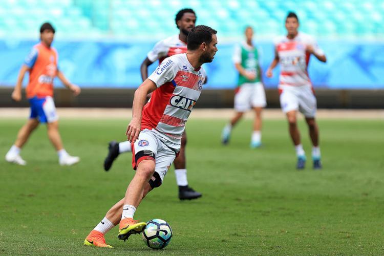 Equipe tricolor treinou nesta sexta-feira, 25, na Arena Fonte Nova em atividade fechada para a imprensa - Foto: Felipe Oliveira l EC Bahia