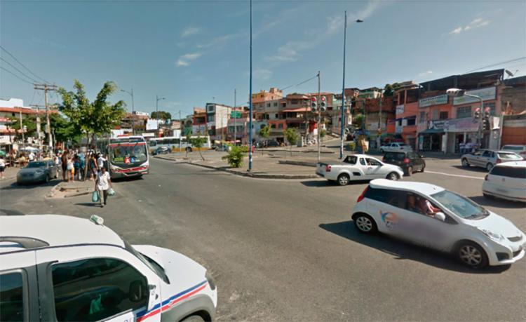 O acidente aconteceu no largo do Luso, em Plataforma - Foto: Reprodução | Google Maps