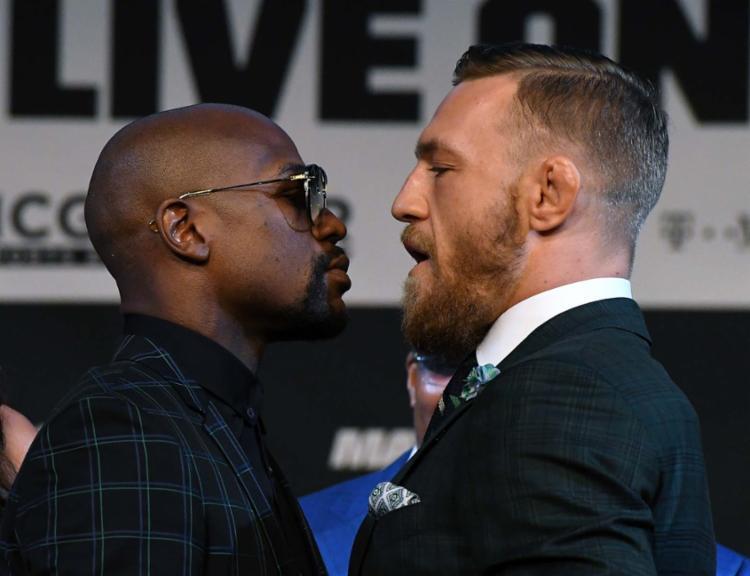 'Marrentos', Mayweather e McGregor se encaram - Foto: Ethan Miller   Getty Images   AFP Photo