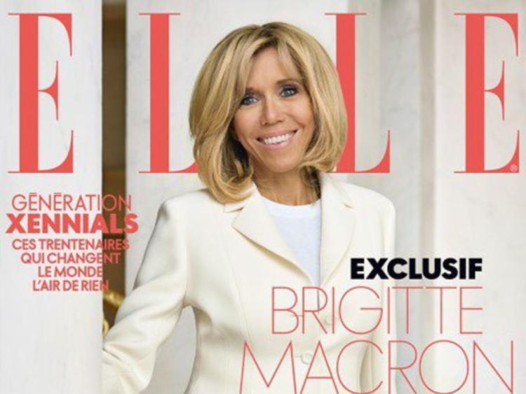 Recorte da capa com a entrevista exclusiva da primeira-dama francesa - Foto: Reprodução