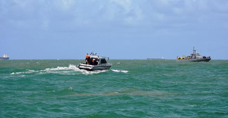 A vítima foi encontrada a sete quilômetros de distância do local do acidente - Foto: Divulgação   Marinha