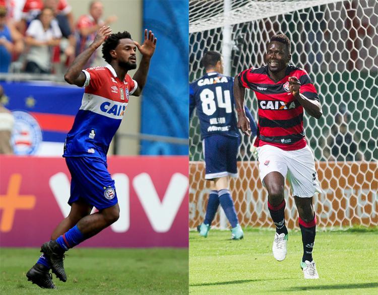 Bahia e Vitória estiveram apenas uma rodada juntos no Z-4 - Foto: Felipe Oliveira l EC Bahia e Guilherme Artigas l Estadão Conteúdo