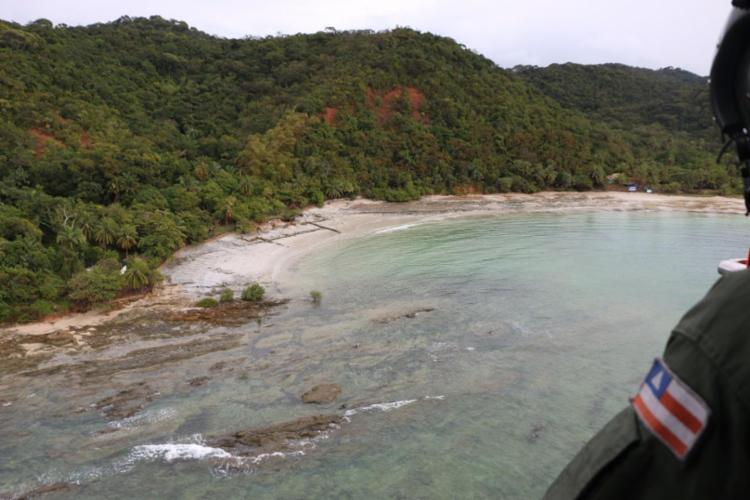Graer ajuda nas buscas pela adolescente de 12 anos em Mar Grande - Foto: Alberto Maraux | Divulgação | SSP-BA