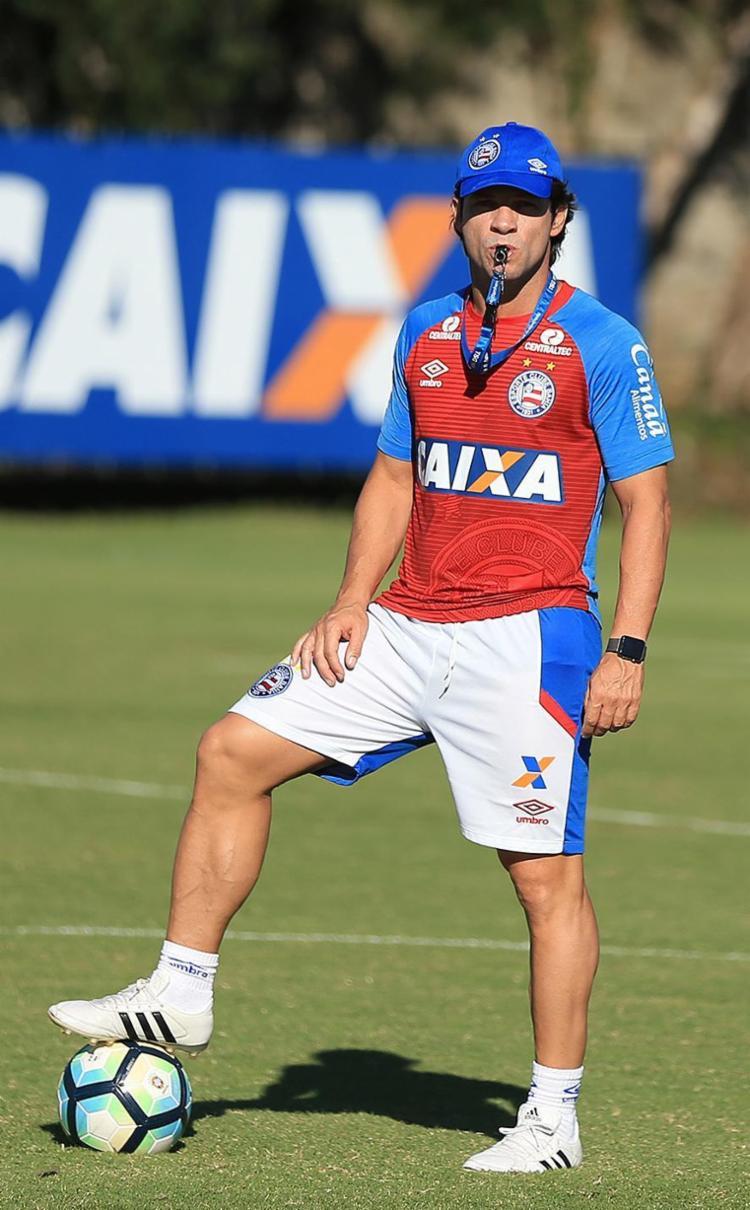 Preto vive no Bahia sua primeira experiência como treinador - Foto: Felipe Oliveira l EC Bahia
