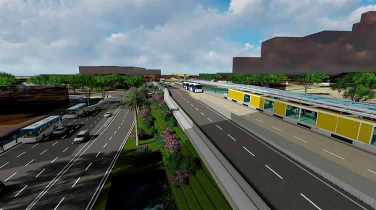 Trecho de 2,9 quilômetros ligará o Parque da Cidade (Itaigara) até a estação de integração com o metrô situada na área do Iguatemi - Foto: Divulgação